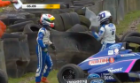VIDEO: Team-mates fight after F4 crash