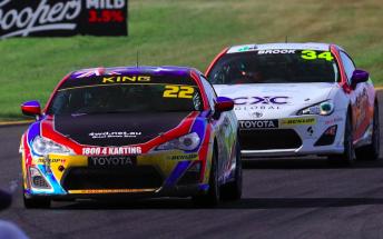 Luke King took the victory in Race 2 Pic : Toyota Racing Australia Twitter