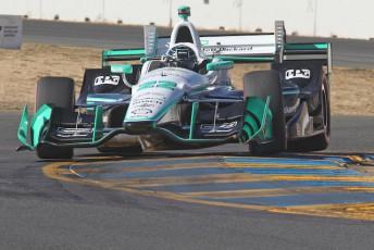 Simon Pagenaud on his way to claiming the Verizon IndyCar Series crown at Sonoma