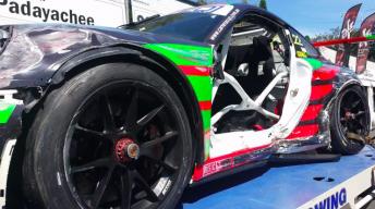 Scott Taylor's crashed Porsche