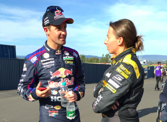 Whincup and De Silvestro after practice