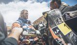 Price breaks leg in Dakar crash