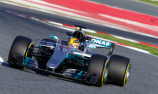 Hamilton puts Mercedes on top in Barcelona testing