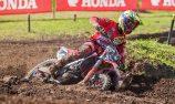 Crankt Protein Honda Racing's Waters on Appin MX1 podium