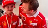 Young Ferrari fan receives unique F1 experience