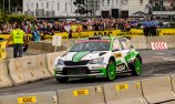 Kopecky aboard WRC2 car leads in Germany