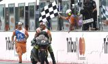 Zarco philosophical after pushing bike over finish line