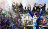 Kyle Busch steals the win at Dover