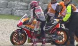 Marquez fastest, crashes in practice at the Island
