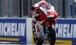 Nakagami tops crash-strewn Moto2 practice