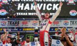 Harvick wins at Texas to earn title chance