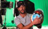 VIDEO: Ricciardo's new Australian-themed helmet