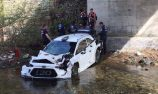 Hyundai crashes into river in WRC testing