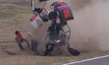 Spectacular rollover in Aussie Racing Cars
