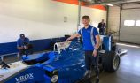 Monger tests Formula 1 car at Rockingham