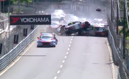 VIDEO: WTCR race marred by 27-car pile up