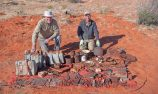 Larry Perkins discovers lost explorer artefacts