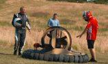 VIDEO: Raikkonen races hovercraft