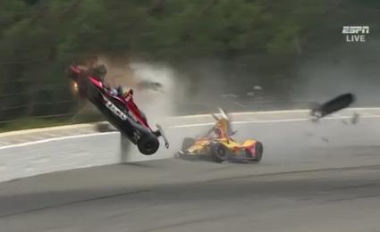 VIDEO: Robert Wickens' crash at Pocono