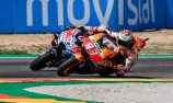 Marquez wins, Lorenzo crashes at first corner