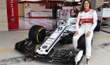 Tatiana Calderon tests 2018 Sauber F1 car