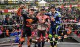 Dovizioso wins treacherous two-part MotoGP finale