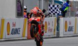 Marquez wins at Sepang after Rossi crashes out of lead