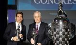 Power and Penske receive Baby Borg Indy trophies