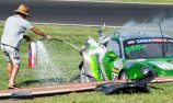 VIDEO: Tim Pappas crashes during B12H practice