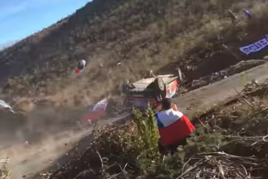 Championship leader rolls in Rally Chile