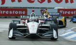 Newgarden wins after rain delay in Detroit