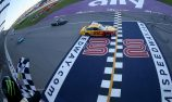 Logano beats Kurt Busch in a two-lap sprint at Michigan