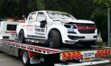 Off-site repairs for SuperUte after opening practice crash