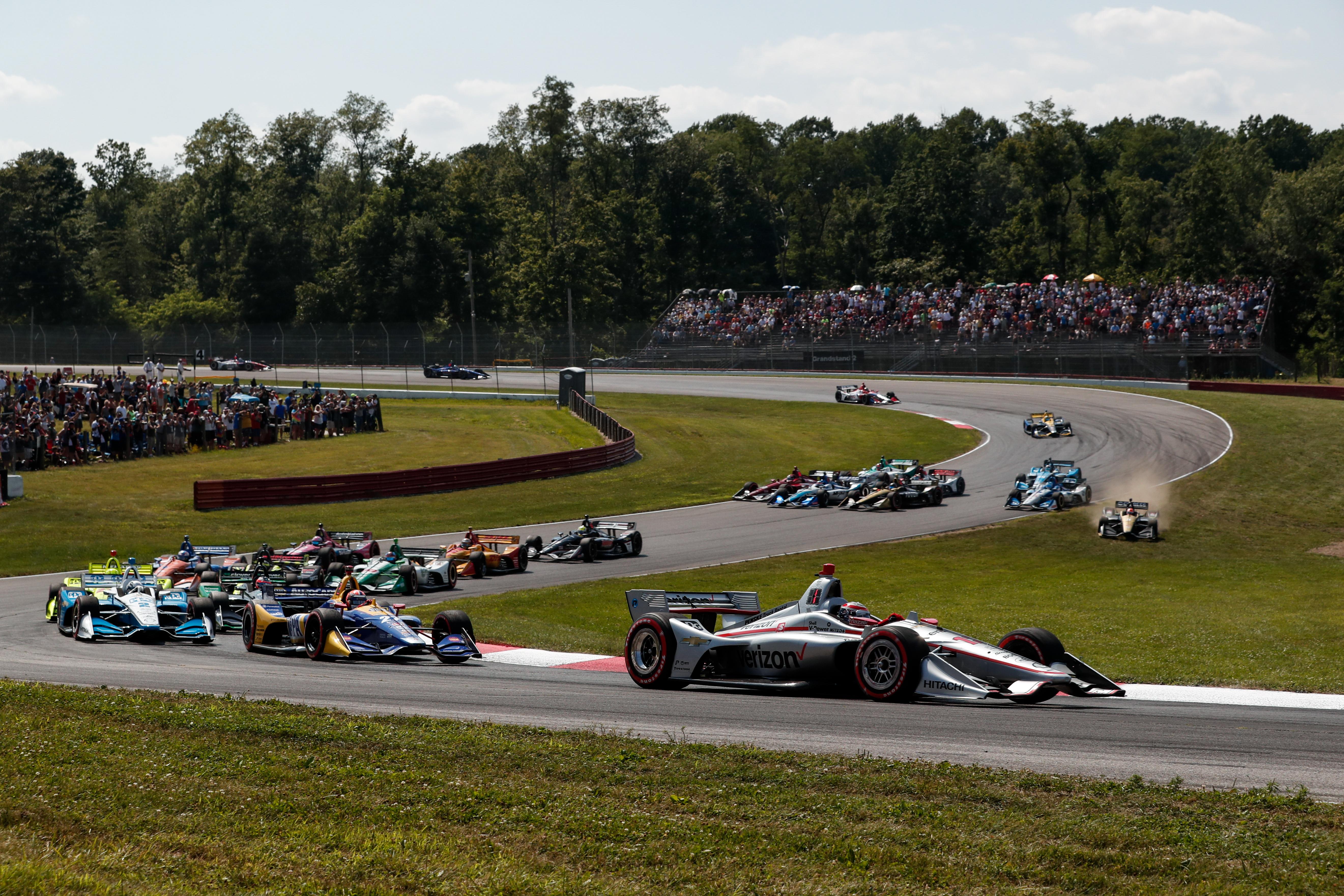 Mid Ohio Raceway >> Video Mid Ohio Indycar Race Highlights Speedcafe