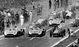 Fangio, Kling and Herrmann at the 1954 French Grand Prix