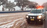 VIDEO: Snow falls on Mount Panorama