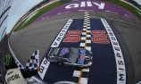 Harvick holds off Hamlin for Michigan victory