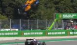 VIDEO: Peroni launched off kerb in Monza