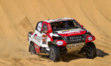 Alonso drops time following Dakar rollover