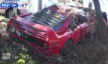 Rare Ferrari wrecked on Gold Coast