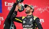 Ricciardo didn't expect Imola podium as shoey returns