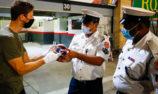 Grosjean returns to F1 paddock, thanks circuit firefighters